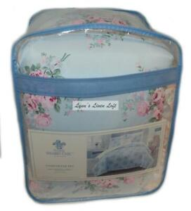 SIMPLY SHABBY CHIC Bouquet Rose KING COMFORTER SET 4P POLYESTER Shams Pillow