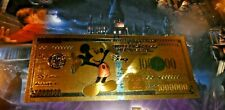 DISNEY GOLD BILLET CARD CARTE MICKEY MOUSE 1 NEUF NEW MINT