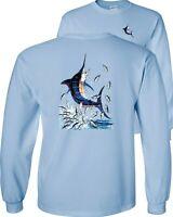 Blue Marlin Fishing Long Sleeve T-Shirt