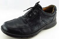 Unstructured Clarks Shoes Sz 10.5 M Round Toe Black Derby Oxfords Leather Men