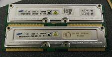 2x Samsung 256MB non-ECC RDRAM PC800-40 MR16R1628EG0-CM8 RIMM Memory FREE SHIP