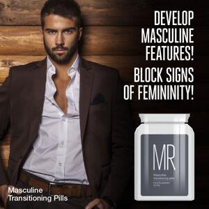 MR MASCULINE TRANSITIONING PILLS – MASCULINISE FTM TRANSGENDER MALE TRANS