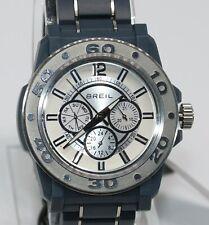 Breil Mens Mantalite Lightweight Gray Plastic Bracelet Watch Silver Face TW0992