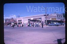 1962 kodachrome Photo slide  Douglas Wyoming Curtin's Liquor Movie Theatre car