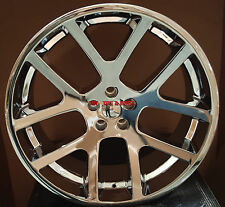 24x9 Dodge SRT10 Viper Style Wheels Chrome Rims 5x115 Charger 300C Challenger