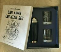 3 Pc Tommy Bahama Sail Away Bar Cocktail Shaker & Glass Set NIB FREE SHIPPING