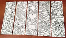 NEW! 24 ASSORTED COLOR YOUR OWN LARGE BOOKMARKS PARTY REWARDS COLORING PARTY