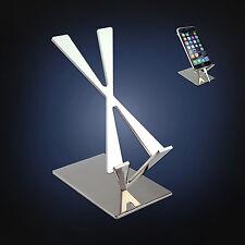 ArtsOnDesk Modern Art Cell Phone Stand Mr104 Stainless Steel MirrorPolish