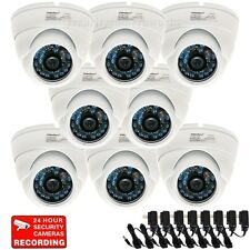 8 Security Camera Wide Angle Outdoor Built-in SONY CCD IR Day Night Vision brt