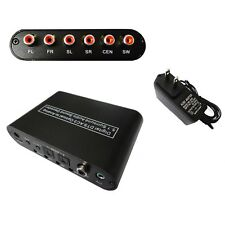 Optical Dolby DTS AC3 Digital to Analog 5.1 2.1 Stereo Audio Decoder Converter