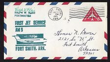 First Jet Service -Fort Smith to Kansas City- Signed Cachet on #UC37