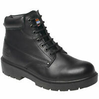 MENS DICKIES ANTRIM SAFETY WORK BOOTS SIZE UK 4 - 13 STEEL TOE CAP BLACK FA23333