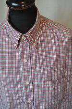 Vintage Levis Dockers red check western shirt size XL rockabilly cowboy