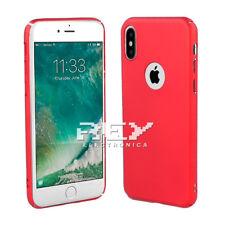 Funda Carcasa ABS para IPHONE X Semirígida Color Metalizada Roja i480