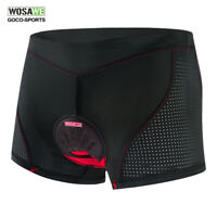 WOSAWE New Men's Cycling Shorts Bike Gel 4D Padded Underwear Bicycle Underpants