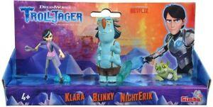 Simba DreamWorks Troll Hunter Action FIgure 3 Piece Set Clair Blinky & NoEnrique