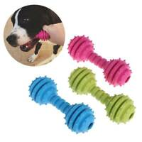 Creative Pet Toys Barbell Rubber Cats Dogs Teeth Chew Toys Bell Pet Supplies