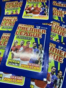 10 x Topps Merlin Premier League 2007/08 Stickers Sealed Unopened Packets Packs