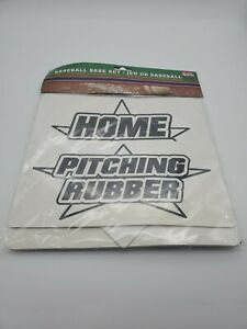 BASEBALL Base Set 3 BASES HOME Plate and PITCHERS Rubber 5 Pc All Star Sports