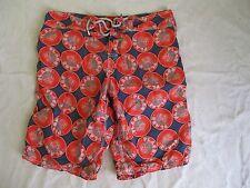 VILEBREQUIN blue orange Plage turtles tropical swim trunks board shorts XL