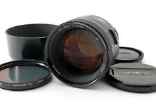 Minolta AF 85mm F/1.4 G Prime Lens for Sony A w/Hood Excellent+++ Tested #5452
