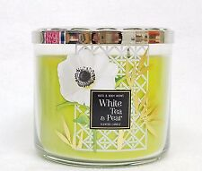1 Bath & Body Works White Tea & Pear Large 3-Wick Filled Candle