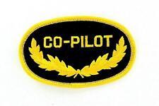 Toppe Patch toppa ricamate termoadesiva moto aviazione marina co pilot pilota