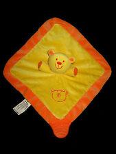 """Doudou carré plat hochet grelot Ours jaune et orange BRUIN TOYS""""R""""Us ToysRus"""