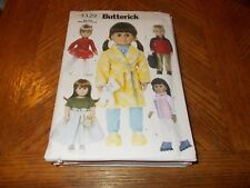 """Butterick Pattern 3329 ~ 18"""" Doll Clothes~ Skating Outfit, Party Dress, etc"""