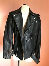 JCrew Italian Leather Studded Motorcycle Jacket Men's XS Black B6384 $995 NWT