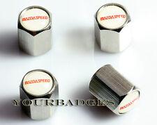 De alta calidad de Metal del Cromo Neumático Polvo Tapas Mazdaspeed tapas de la válvula Mazda MX5 6 2