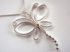 Long Tailed Butterfly Necklace 925 Sterling Silver Corona Sun Jewelry
