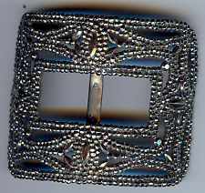 ANTIQUE VICTORIAN CUT STEEL CURVED BUCKLE