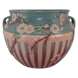 Roseville Pottery Cherry Blossom 1933 Pink Jardiniere Planter 627-9