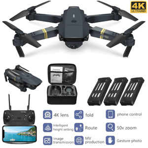Drone X Pro 4K Camera WIFI FPV 3 Battery Foldable Selfie RC Quadcopter Xmas Gift
