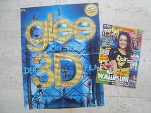 GLEE special magazine +POSTER Cory Monteith Lea Michele Diana Agron Chris Colfer