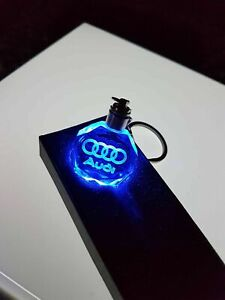 2021 Led 3D Audi crystal keychain key ring keyring brand new with gift box a3 a4