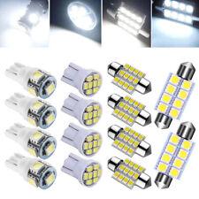 14Pcs Coche LED Blanco Luz/Lámpara Cúpula Puerta Interior Bombillas Kit de luces de la matrícula