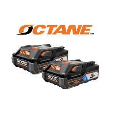 RIDGID Power Tool Battery 18V Lithium Ion 3.0Ah Pack of 2 Batteries