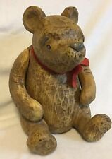 Disney Classic Winnie The Pooh Carved Wood Look Figure by Charpente