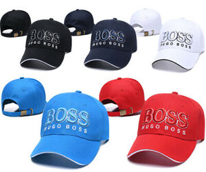 Mens Womens HUGO BOSS Logo Design Luxury Caps Adjustable Baseball Cap One Size