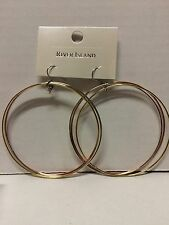 River Island Twist Hoop Style Earrings Gold / Rose Gold / Sliver Colour NEW