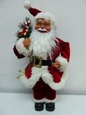 UK-Gardens 50cm Standing Santa Claus Figure With Sack Ornament