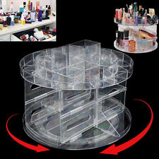 ACRYLIC VERSATILE ROTATING BEAUTY CADDY CADDY COSMETIC ORGANIZER MAKE UP HOLDER