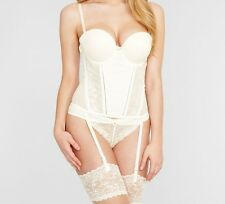 06227c5fe90 FANTASIE ROSA BASQUE FAUVE BUSTIER IVORY PADDED STRAPLESS SUSPENDERS 0163  NEW