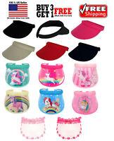 Kids Boys Girls Fashion Clip On Visor Wide Brim Sun UV Protection Cap Cover Hat