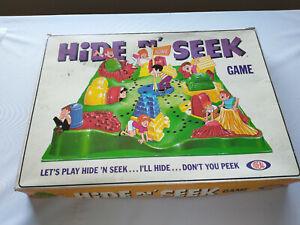 Hide N' Seek Game Boardgame Vintage Ideal Toys 1967 - RARE Hide & Seek