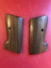 Walther pistol grips. Rosewood. Unknown Model. Marked Aje India