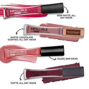 L'Oreal Infallible 8HR Pro Gloss & Pro MATTE Gloss, Les Chocolats, Les Macarons