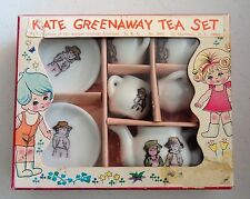 Vintage Kate Greenaway Minature Toy Tea Set Original Box Complete